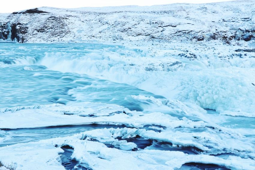 Waterfall SalmonLove Waterfalls Cold Temperature Ice Water Beauty In Nature Nature Winter Snow Scenics Tranquility Landscape No People Frozen Tranquil Scene Glacier Outdoors Blue Sea Day Beauty Polar Climate
