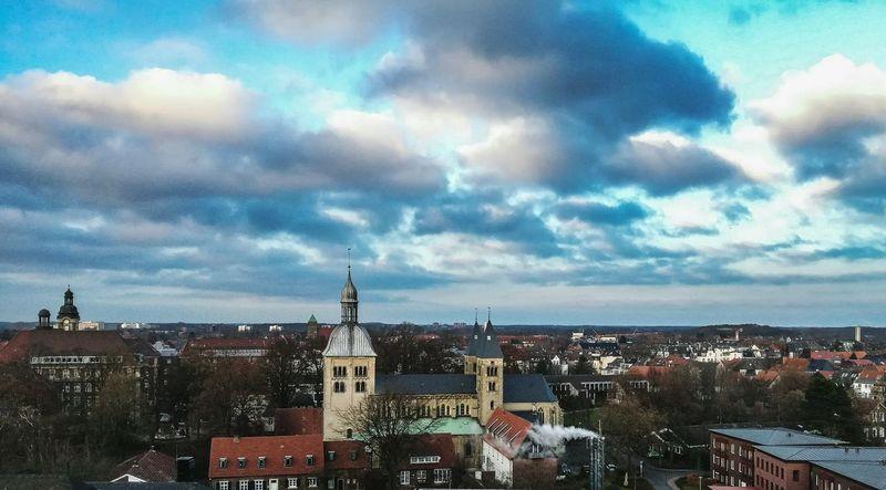 Himmel Und Wolken Dramatic Sky Cityscape Architecture Münster