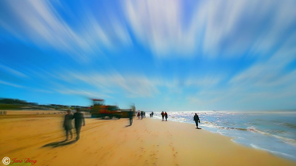 Vacations Beach Walking Blue Tranquil Scene Men Tranquility Leisure Activity Sky Sea Scenics Person Beauty In Nature Nature From My Point Of View Hello World Taking Photos Fine Art The Week Of Eyeem Getting Inspired People And Places Caught The Moment Cloud - Sky Perspective Light And Shadows