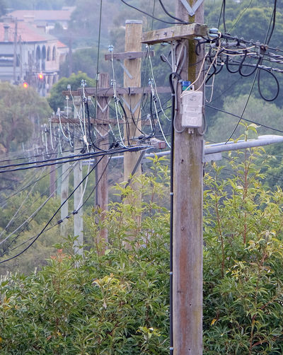 Sydney New South Wales  No People Built Structure Cable Electricity  Connection Power Supply Wire Technology Outdoors Power Pole Tangled Stacked Close-up Compressed