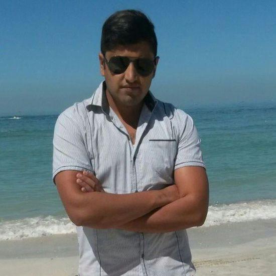 On ajman beach