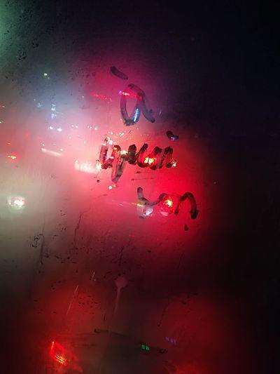 Vapour Misting Celebration Red Destruction Close-up