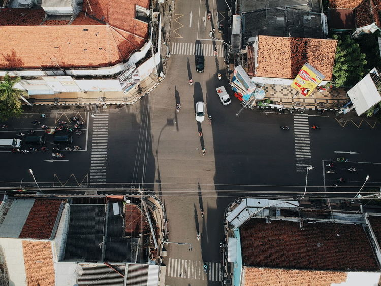 Bird Eyes View Dronephotography Light And Shadow Light Morning Light Morning Street Traffic Warm Daily Life Road Roadways High Street Zebra Crossing Go Higher Stories From The City
