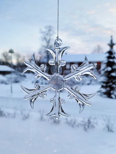 Decoration Home Mobilephotography Glass - Material Snowflake Snow Christmas Winter No People Christmas Decoration Close-up