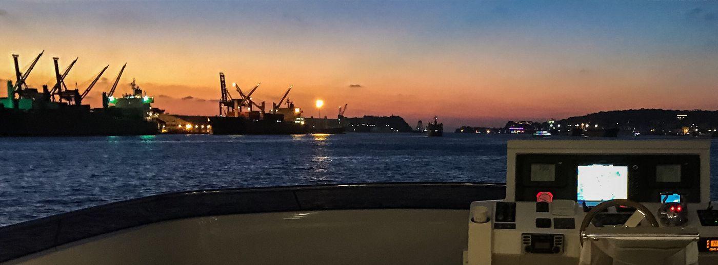 高雄港的晚霞 Sunset Sky Nautical Vessel Transportation Water No People Outdoors Beauty In Nature Cloud - Sky Architecture Nature First Eyeem Photo