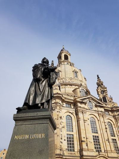 Clouds And Sky Dresden Frauenkirche Church Luther Martin Luther Blue Sky Nopeople Historic Cathedral