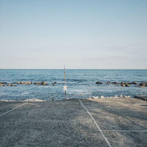 Sea Blue Sky Sea And Sky Blue Wave Silence