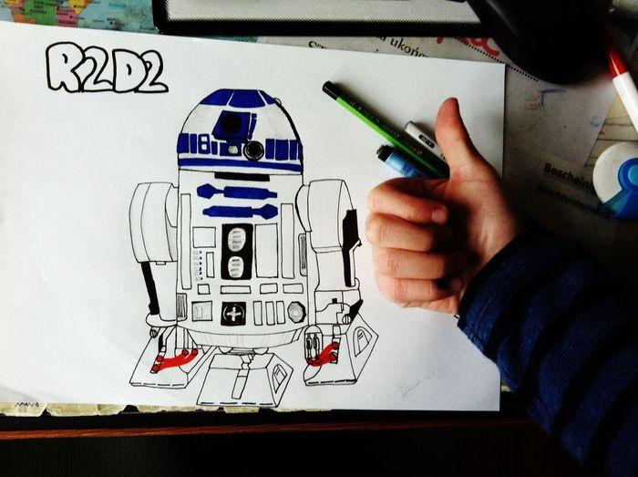 -Drawing R2D2 Star Wars Starwars Star Wars Love R2D2 Drawing