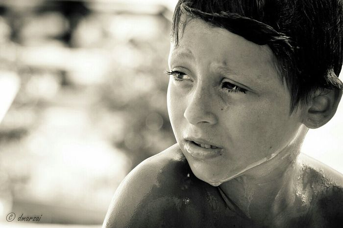 Kids Blackandwhite Portrait