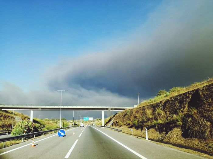 Road Outdoors Day No People Nature Sky Dramatic Sky Environment Mothernaturesfury Help Our Planet Fire And Flames Forest Caos Forest Fire RedCrossExperience Incêndiosflorestaisdeportugal2017