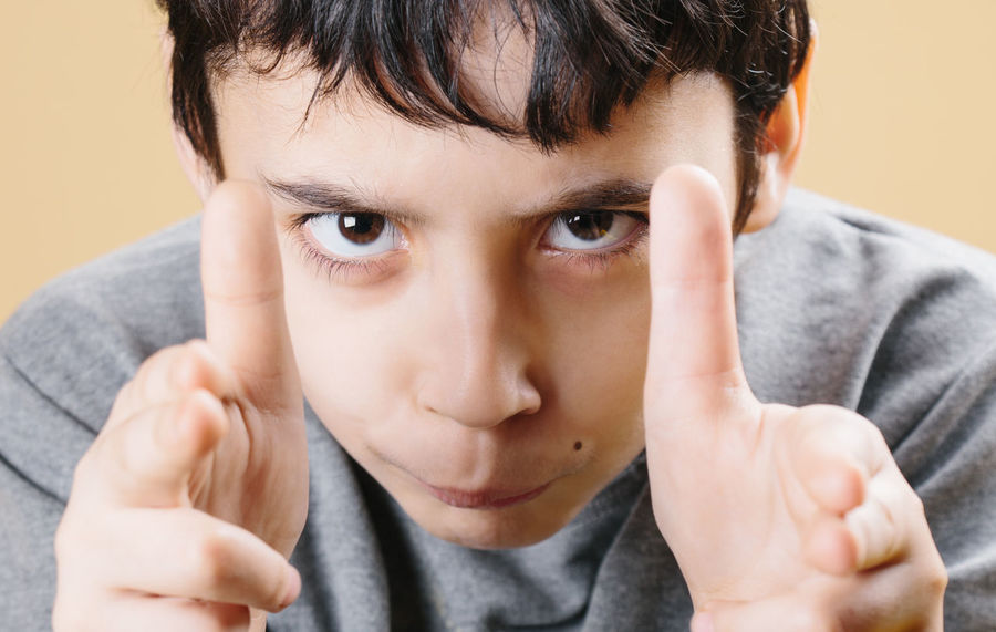 8 Years Old Acting Angry Boy Boys Child Childhood Close-up Dangerous Displeased Expression Eye Fine Art Photography Funny Gangster Gesturing Hand Headshot Kids Looking At Camera One Boy Pistol Portrait Shooting