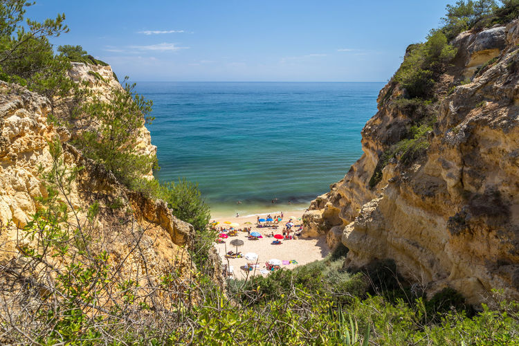 Praia da Marinha, Algarve, Portugal Portugal Algarve Carvoeiro Praia Da Marinha Rocks And Water Beauty In Nature Tourist Destination Water Nature Rock Solid Rock - Object Outdoors Beach Beachphotography Beach Photography