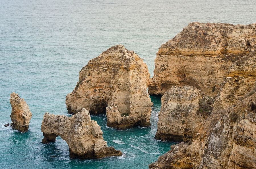 Algarve Algarve Portugal Rocks And Water Rocks Portugal Lagos Portimão, Portugal Rock - Object Sea Water Rock Formation No People Scenics Lost In The Landscape The Week On EyeEm Nature Beauty In Nature Outdoors Ponta Da Piedade