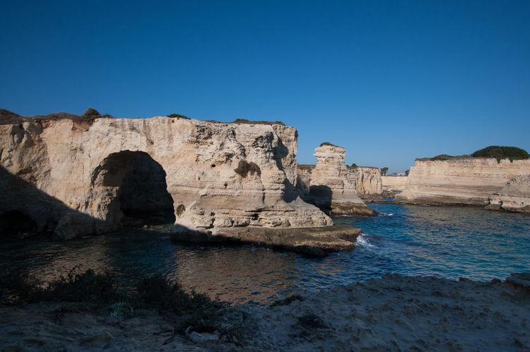 Blue Cliff Cliffs Italy Lecce Long Exposure Puglia Salento Sea Seascape Smooth Torre Sant'andrea Wonderful