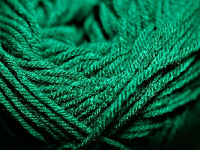 Full frame shot of green rope