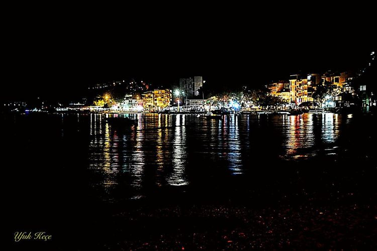 NikonD5200 Myobjective Marmarasea Sea Night Cityscape Illuminated City Reflection