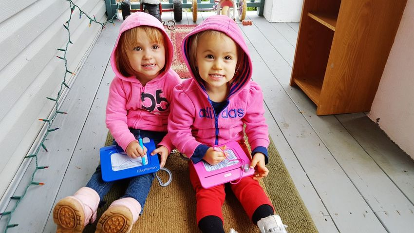 Cuties <3 Babies ♥♥♥ Pink Cousins  Best Friends Hanging Out Cheese!