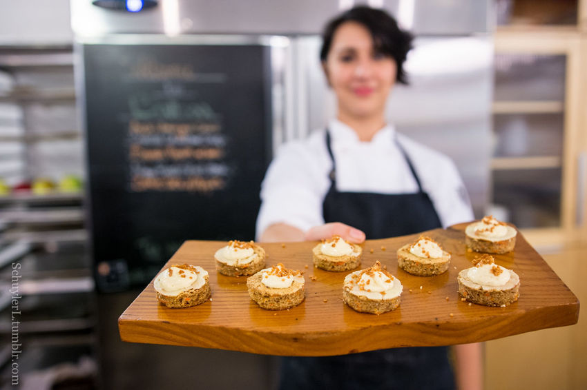 Amuse Bouche Homemade Once In A Lifetime Shallow Depth Of Field Alex Garfinkel Bakery Caterer Dinner Table Female Food And Drink Freshness Gourmet Guests In The Kitchen Kitchen Looking At Camera One Person Personal Chef Plating Plating Food Private Chef Private Dining Private Dining Event Real People Small Business