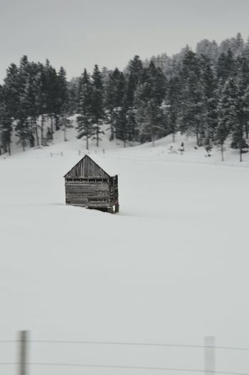 Winter House Nature Architecture Building Exterior Snow Tranquility Cold Temperature Built Structure Landscape Tranquil Scene No People Outdoors Scenics Water Black And White Snowing Agricultural Building Day Snow Covered EyeEm Gallery Eyemmarket Fresh On Eyeem  EyeEmBestPics Black&white