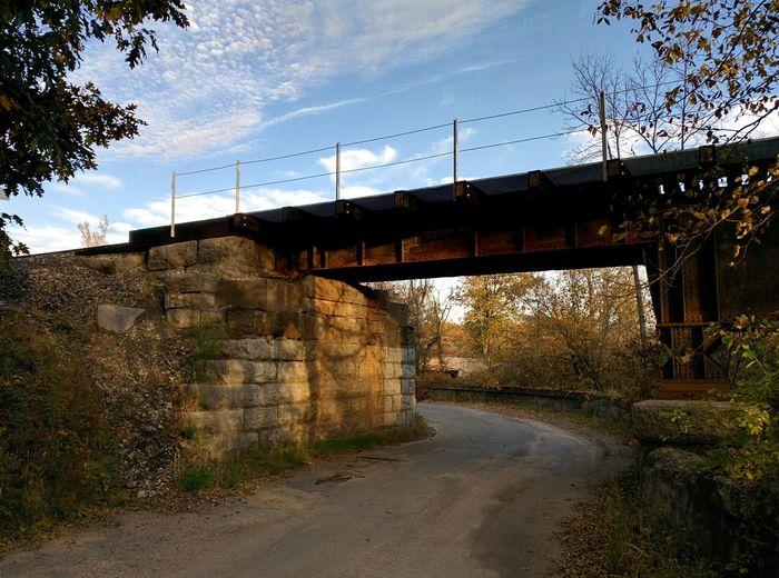 Bridge Train Rusted Metal  Fall Colors