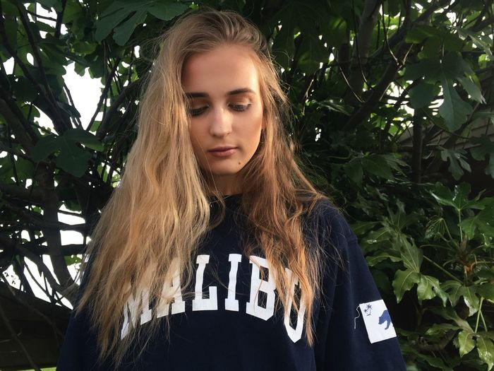 Brandymelville Malibu Blond Hair Outdoors Low Angle View First Eyeem Photo
