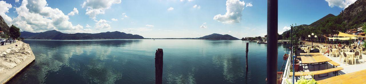 Lago D'Iseo Lake View Panorama Sunshine