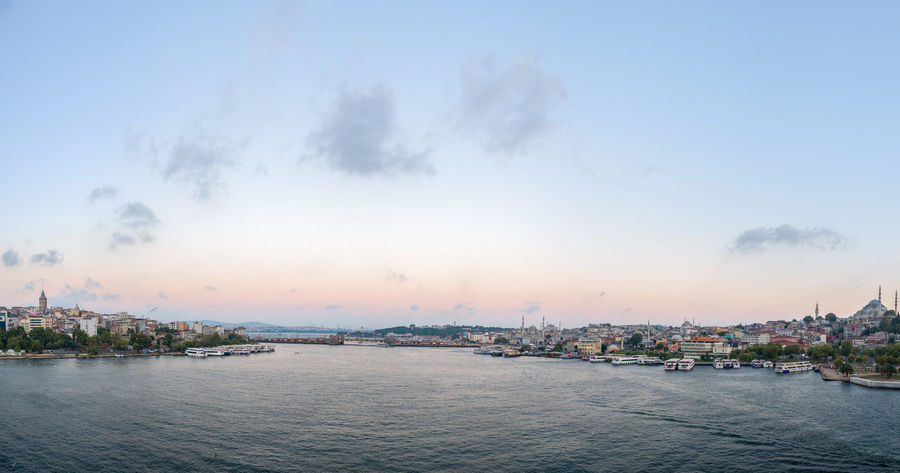 Golden Horn - Panoramic View of the Galata Tower, Galata Bridge & Eminonu Architecture Beauty In Nature Bridge Built Structure City City Life Cityscapes Golden Hour Hidden Gems  Istanbul Landscape Landscape_Collection Natanomalous.com Nature Outdoors Scenics Sea Sea And Sky Seascape Seaside Sunset Sunset Silhouettes Sunset_collection Tranquil Scene Tranquility