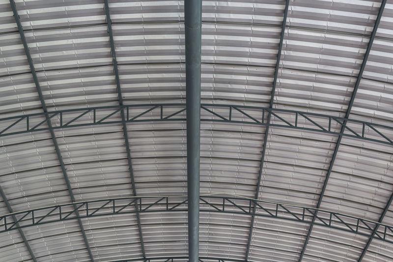 Metal roof structure Architecture Beam Built Structure Ceiling Construction Design Development Estate Factory Framework Indoors  Industrail Interior Metal Modular Roof Structure Truss