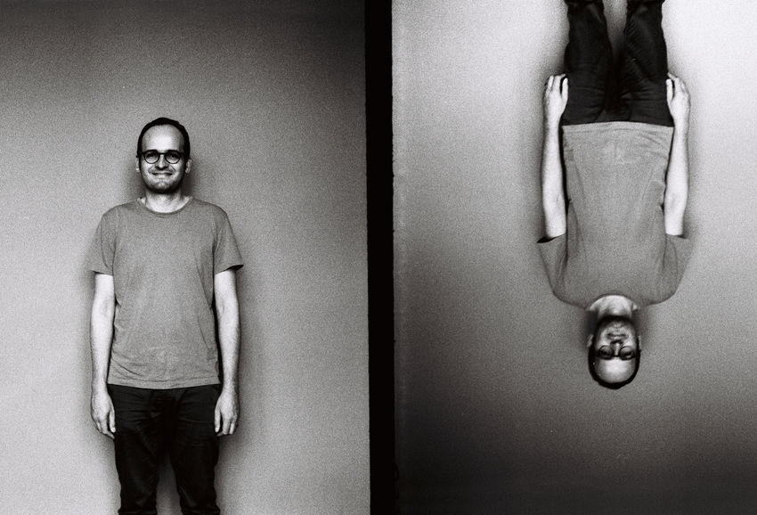 Analogue Photography Black And White Day Eyeem Studio Kreuzberg Film Photography Half Frame Half Frame Portraits Indoors  One Person People Portrait Real People Standing Team Awesome Young Adult