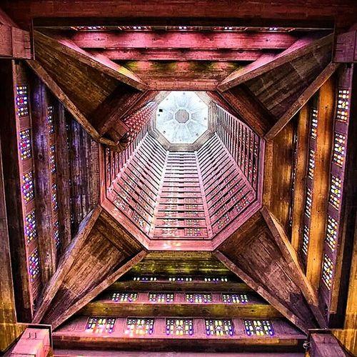 L'intérieur de l'église Saint-Joseph du Havre Architecture , Augusteperret , Lehavre , Concrete , church, beautiful, geometry, igers_lehavre, normandy