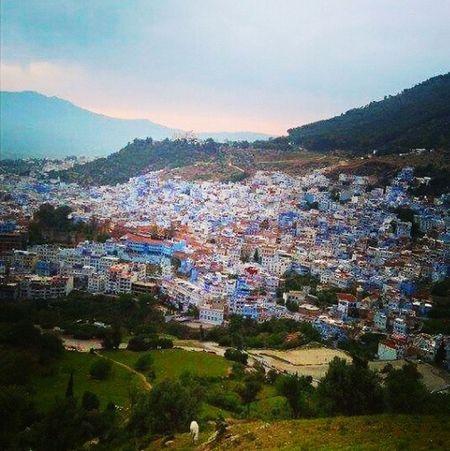 Chefchaouen Thebluepearl Bluecity Mountain Beautiful Scenery Morocco 🇲🇦