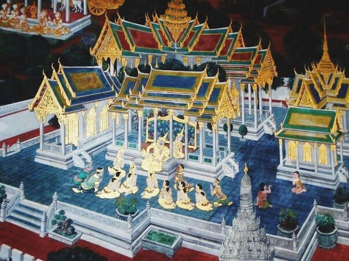 Asian  Asian Culture Thailand ASIA Mural Art Asian Art ArtWork EyeEm EyeEm Gallery Old Pic  Walking Around Grand Palace Bangkok Thailand Hello World