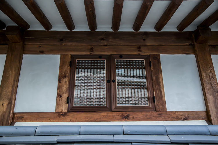 Bukchon Bukchon Hanok Village Korean Traditional House Window Roof Tile Seoul South Korea Korea