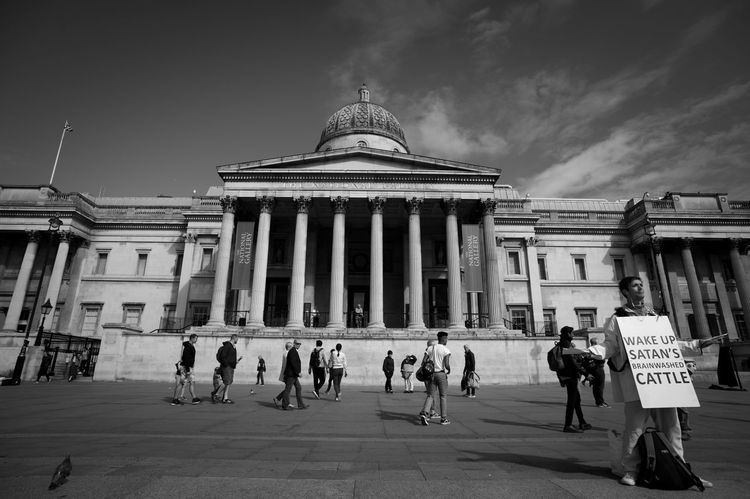 Wake Up Great Britain London Architecture Building Exterior City Group Of People Real People Sky Tourism Travel Travel Destinations