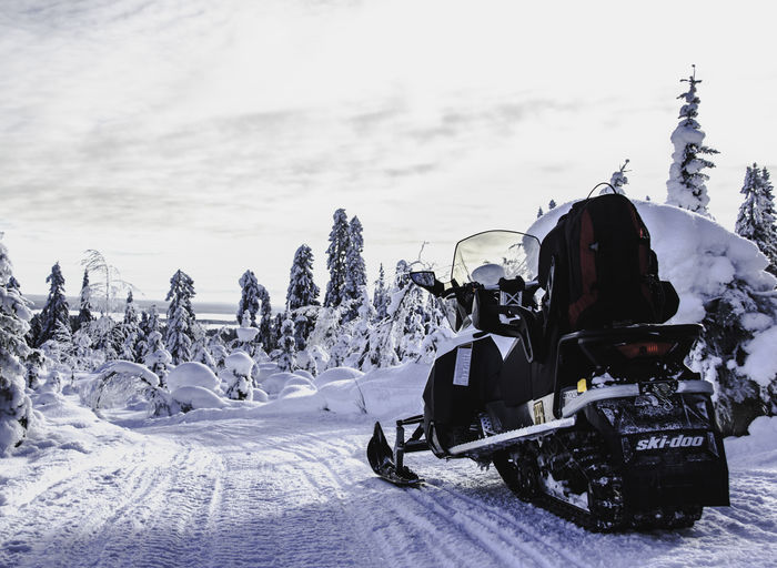 Snowmobile in