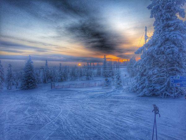HDR Skiing Sweden Klövsjö