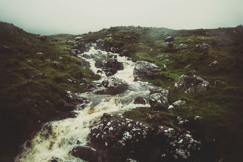 Beauty In Nature Connemara Day Galway Gloomy Day Hill Ireland Ireland Landscapes Landscape Mountain Nature No People Outdoors Rain Scenics Water Waterfall