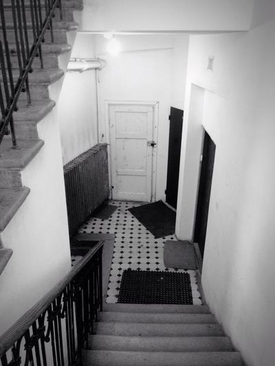 Scary Places Tenement Houses Metal Capital Cities  Warsaw Blackandwhite Scary Stuff  Doors