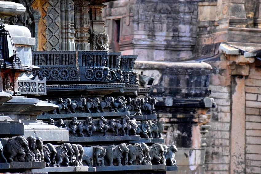 Belur Architecture Place Of Worship Statue Sculpture Ancient Building Exterior Tredition Worship Place Cultures Outdoors Day Art And Craft