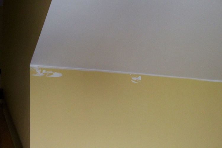Ceiling DIY Home Improvement Oops! Pain Paint Home Improvements Home Interior House Painting Mistake Mistakes  Painting Wall - Building Feature