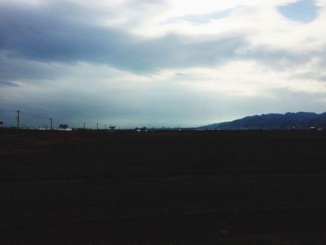 羽前長崎駅西口。冬らしくない。2015.12.21