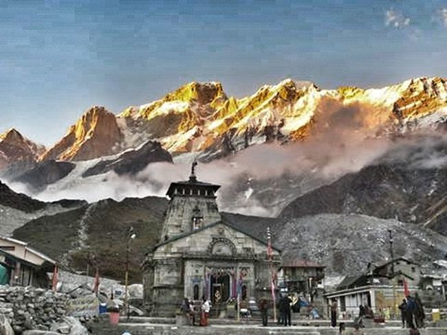 Kedarnath Snow Mountain Cold Temperature Winter Religion Architecture Town Outdoors Day City Sky People Nature Himalaya Kedarnath Travel Nature Landscape