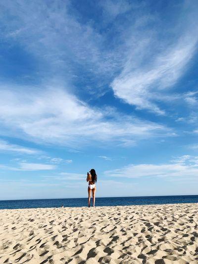 EyeEm Selects Sky Sea Beach Land Water Beauty In Nature Women Horizon Over Water Lifestyles Sand