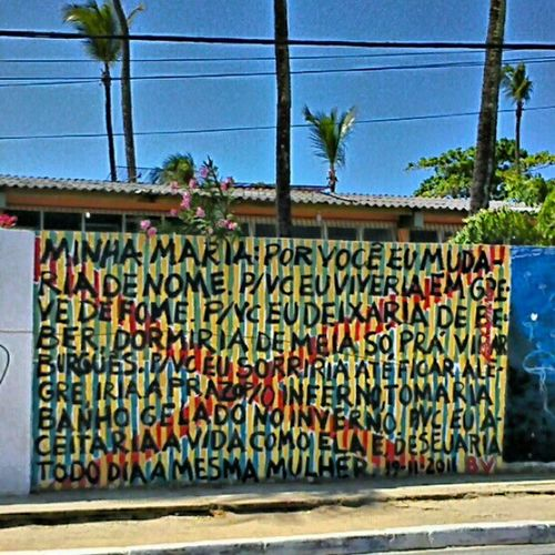 Minha Maria. Itapuã Salvador Bahia Brazil Wall