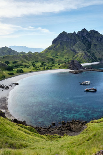 ASIA Ende INDONESIA Vacations Views Bay Of Water Beauty In Nature Cloud - Sky Flores Komodo Komodo Island Komodo National Park Labuanbajo Landscape Mountain Muti Colored Nature No People Non-urban Scene Outdoors Padar Island Scenics - Nature Tranquil Scene Tranquility Travel Destinations