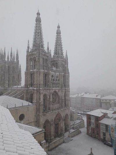 Burgos Spain Architecture Religion No People Nature Is Life. Power Of Nature Love The Nature Fragility Special Snow ❄ Winter Snowing Rural Scene