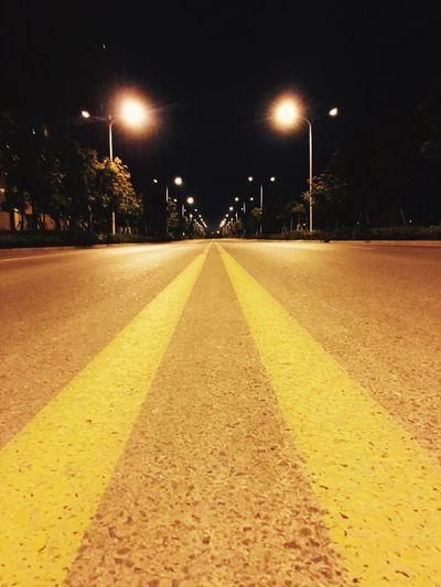 Road Night Nightphotography Night Photography Running