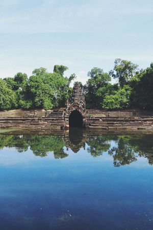 Ancient Civilization Architecture Beauty In Nature Built Structure Cambodia Day Nature No People Old Ruin Outdoors Reflection Sky Tree Water