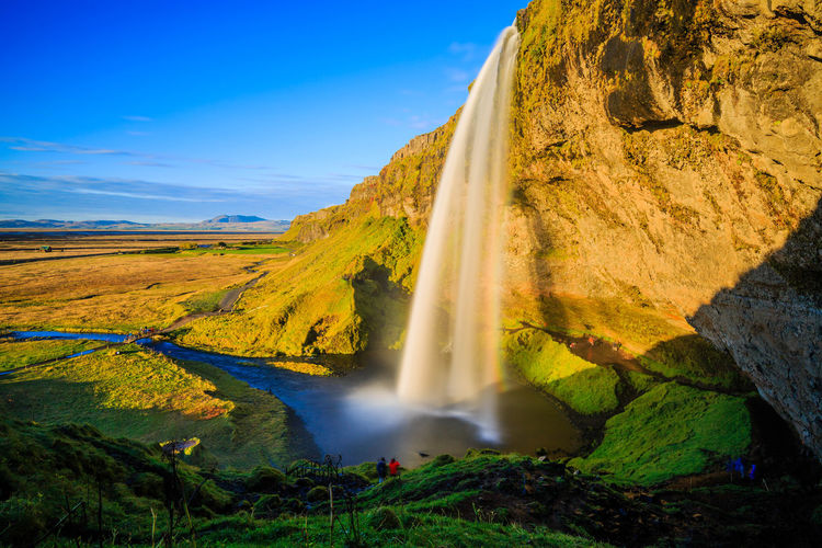 Beauty In Nature Eyesight Iceland Igniting Landscape Nature No People Outdoors Scenics Sky Summer Water Waterfall