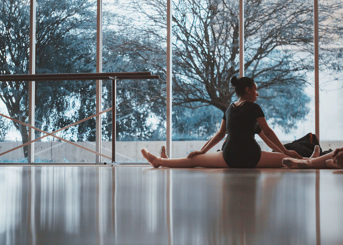 Ballet Ballet Dancer Beauty In Nature Cold Temperature Day Exercising Flexibility Full Length Indoors  Leisure Activity Lifestyles Nature One Person People Real People Sitting Snow Tree Winter Young Adult Young Women